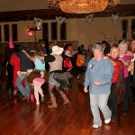 Line dancing at the Castle