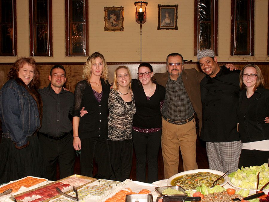 The Castle Crew: Kathy Kalayci, Tuncay, Melissa Bush, Christie Ruud, Stephanie Sullivan, Yilmaz Hocam, Chef Robert and Morgan Fancher