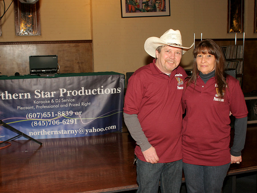 Jeff and Wendy Wood of Northern Star Productions - DJs for the evening